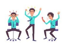 Иллюстрация вектора собрания бизнесмена сердитая бесплатная иллюстрация