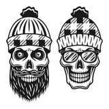Иллюстрация вектора стиля черепов 2 Lumberjack бесплатная иллюстрация