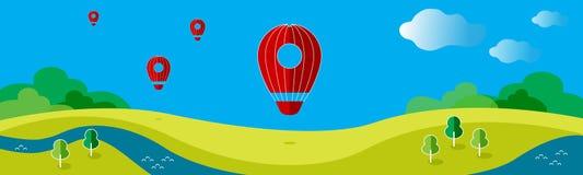 Иллюстрация вектора с воздушным шаром иллюстрация штока