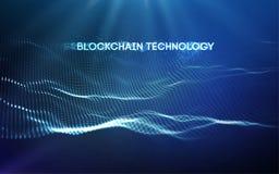 иллюстрация вектора технологии blockchain предпосылки 3D иллюстрация вектора