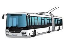 Иллюстрация вектора троллейбуса Стоковое Изображение RF
