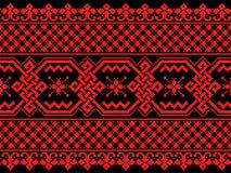 Иллюстрация вектора украинской безшовной картины Стоковая Фотография