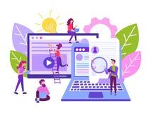 Иллюстрация вектора успешная компания ищет работники бесплатная иллюстрация
