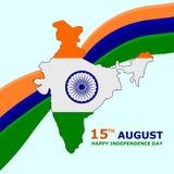 Иллюстрация вектора флага карты Индии иллюстрация вектора