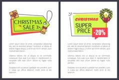 Иллюстрация вектора цен продажи рождества супер бесплатная иллюстрация