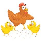 Иллюстрация вектора цыпленка и цыпленоков иллюстрация штока