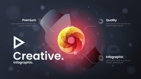 Иллюстрация вектора части страницы вебсайта приземляясь Выходя на рынок знамя представления аналитика Дизайн infographics дела ко бесплатная иллюстрация