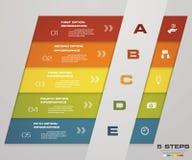 Иллюстрация вектора шаблона дела шагов Infographic 5 Стоковое Изображение RF