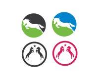 Иллюстрация вектора шаблона логотипа лошади иллюстрация вектора