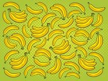 Иллюстрация вектора шаржа предпосылки банана Стоковые Фото