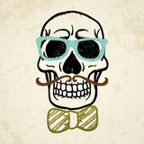 Иллюстрация вектора декоративного черепа Стоковое Изображение