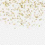 Иллюстрация вектора Confetti Goldenl иллюстрация вектора