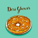 Иллюстрация вектора Desi ghevar иллюстрация вектора
