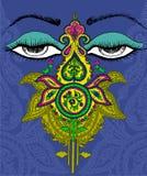 Иллюстрация вектора Lingam для Shivratri индусский фестиваль бога Shiva Om цвет Стоковое Изображение