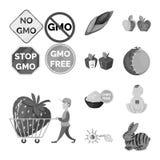 Иллюстрация вектора transgenic и органического логотипа Собрание transgenic и синтетической иллюстрации вектора запаса иллюстрация вектора