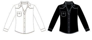 Иллюстрация вектора unisex рубашки Вид спереди Стоковое фото RF