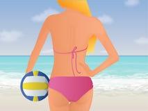 Иллюстрация волейбола пляжа Стоковые Фотографии RF