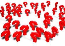 иллюстрация вопросительных знаков 3d Иллюстрация штока