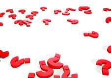 иллюстрация вопросительных знаков 3d Иллюстрация вектора