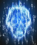 Иллюстрация вторжения хакера цифровая Стоковые Изображения