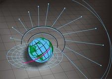 иллюстрация глобуса земли Стоковая Фотография RF