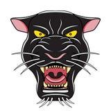 Иллюстрация головы шаржа черной пантеры Стоковая Фотография
