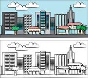 иллюстрация города Стоковое Изображение RF