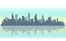 иллюстрация города самомоднейшая Стоковая Фотография RF