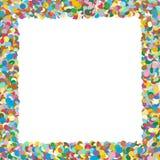 Иллюстрация границы Confetti - красочная и Squarish сформированная вектора иллюстрация штока