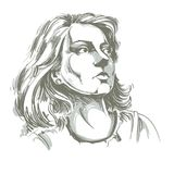 Иллюстрация графического вектора нарисованная вручную белой кожи привлекательная иллюстрация штока