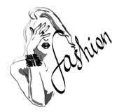 Иллюстрация девушки моды Стоковые Фото