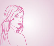 иллюстрация девушки способа Стоковые Фото