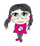 иллюстрация девушки шаржа милая Стоковое Изображение RF