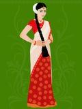 Иллюстрация девушки Telugu   Стоковое Фото