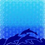 иллюстрация дельфинов Стоковое Изображение