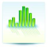 иллюстрация диаграммы в виде вертикальных полос Стоковые Изображения RF