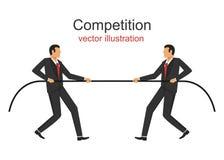 Иллюстрация дизайна вектора конкуренции стоковые фото