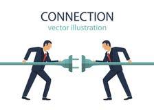 Иллюстрация дизайна вектора концепции соединения стоковое изображение rf