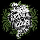 Иллюстрация дизайна вектора вектора дизайна плаката напитка пива солода Ремесл-Пив-солода бесплатная иллюстрация
