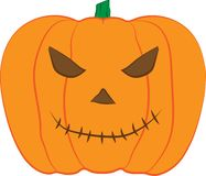 Иллюстрация дизайна вектора тыквы JACK-O-LANTERN для торжества хеллоуина иллюстрация вектора