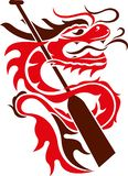 Иллюстрация дизайна значка логотипа шлюпки дракона иллюстрация вектора