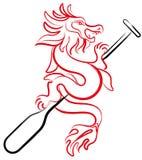 Иллюстрация дизайна значка шлюпки дракона картины щетки бесплатная иллюстрация