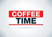 Иллюстрация дизайна предпосылки конспекта времени кофе плоская иллюстрация вектора