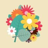Иллюстрация дизайна цветков весны плоская стоковое изображение rf