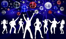иллюстрация диско танцы Стоковые Изображения RF