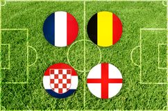 Иллюстрация для футбольного матча четвертьфинала Стоковая Фотография RF