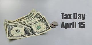 Иллюстрация дня налога стоковая фотография rf