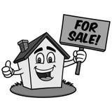 Иллюстрация дома шаржа для продажи Стоковые Изображения