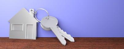 Иллюстрация дома 3D ключей Стоковая Фотография RF