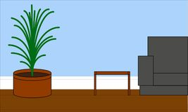 Иллюстрация живущей комнаты для внутренний конструировать Стоковая Фотография